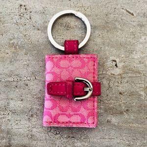 ♥️ Coach ♥️ Pink Photo Album Keychain